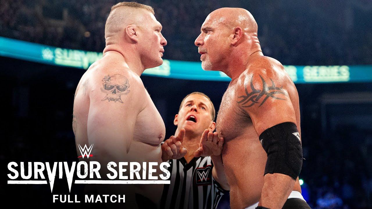 Download FULL MATCH - Goldberg vs. Brock Lesnar: Survivor Series 2016