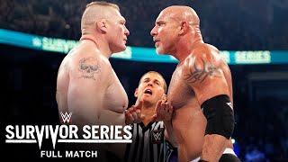 FULL MATCH - Goldberg vs. Brock Lesnar: Survivor Series 2016