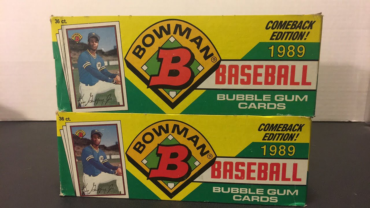 8e2d29385d 1989 BOWMAN BOX BREAK IN SEARCH OF GRIFFEY ROOKIES - TURN BACK THE CLOCK  TUESDAY