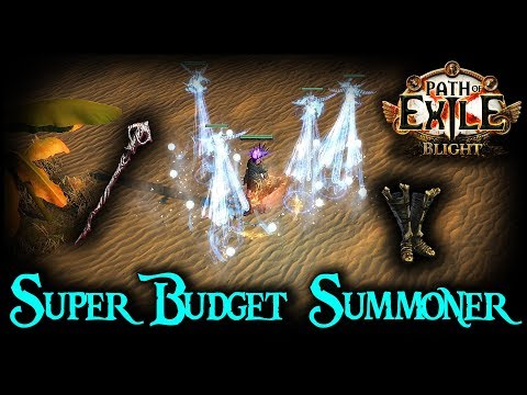 Super Budget Summoner Easily Clears End Game - Path Of Exile Budget Build