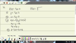 College Algebra - Chapter 2 Test - Problem 10