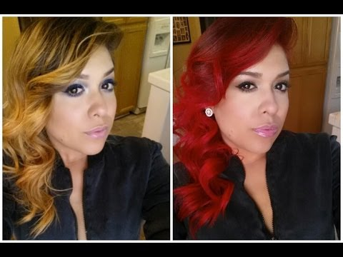 Demo L Oreal Hicolor Hilights For Dark Hair Only In Red You