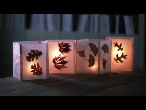 Cheap Fall Craft Idea: How to Make Leaf Lanterns with Wax Paper