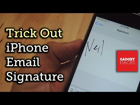 Trick Out Your IPhone's Email Signature (Handwritten; HTML; Hyperlinks) [How-To]