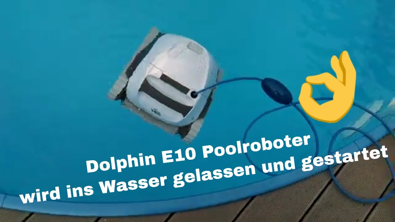 Pool Filterpumpe Rückspülen Maytronic Pool Robot Dolphin E10 Pool Robot Is Let Into The Water And Started