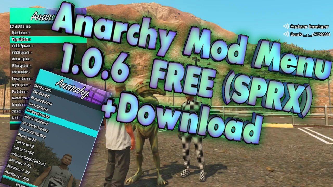 Anarchy Mod Menu Ps3