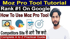 SEO Tools - Part 66 | Moz Pro Tutorial | Competitor analysis, Link Building | Rank #1 on google