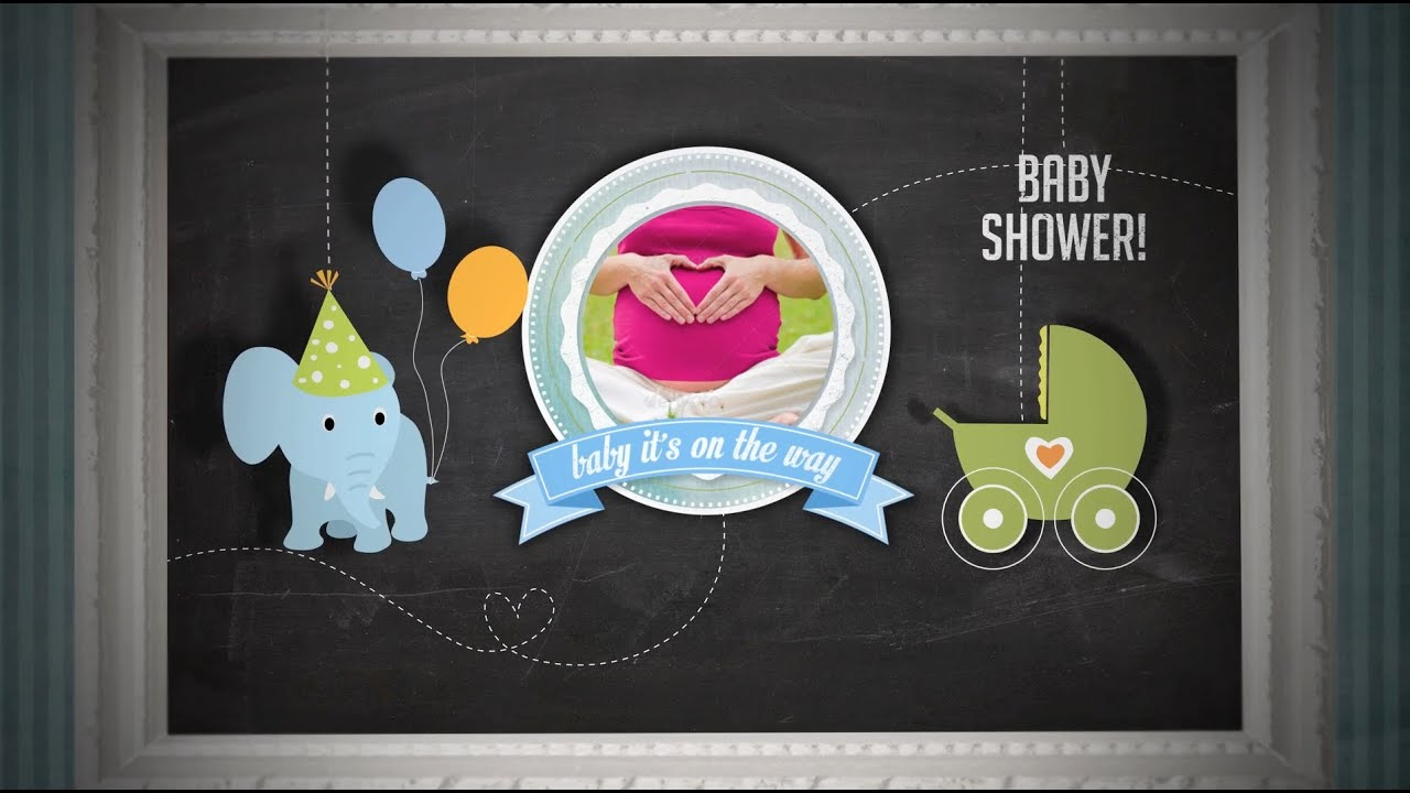 Baby Shower Invitation - boy Version - After Effects Royalty Free ...
