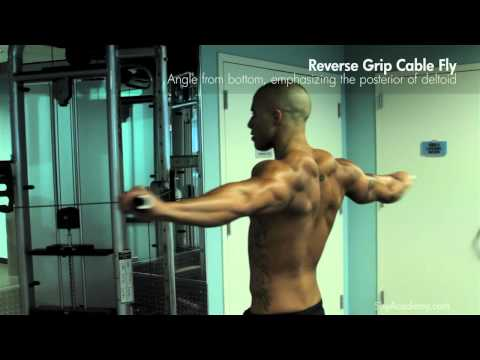 SHOULDERS & BACK - Reverse Grip Cable Fly