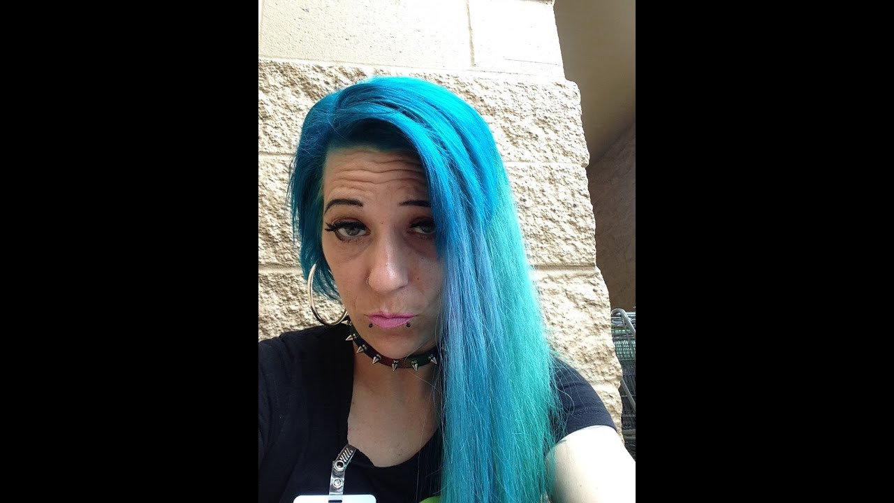 Dying My Hair Blue Extensions Teal Aqua Youtube