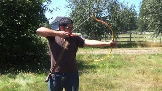 How to Make a Vinyl Backed PVC Pipe Bow With Folded Recurve Tips