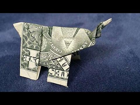 How To Fold A Dollar Bill Elephant - DIY Crafts Tutorial - Guidecentral