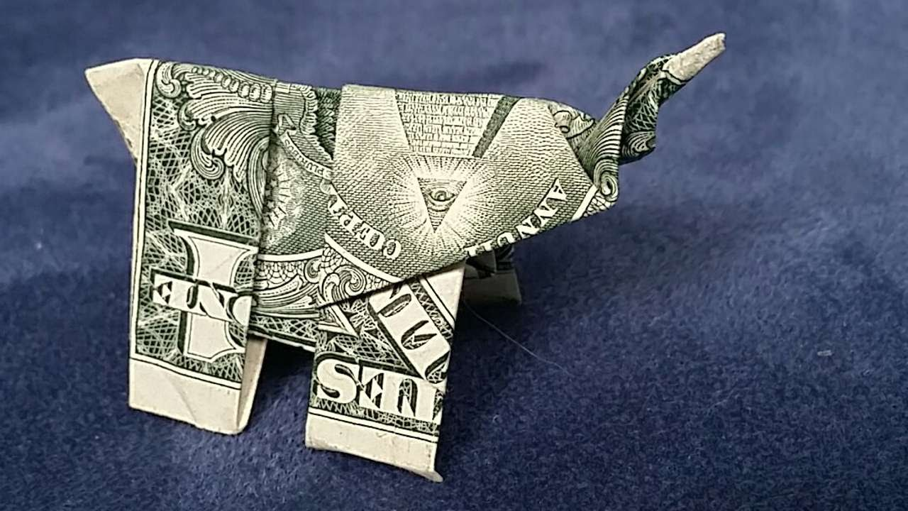 How To Fold A Dollar Bill Elephant Diy Crafts Tutorial