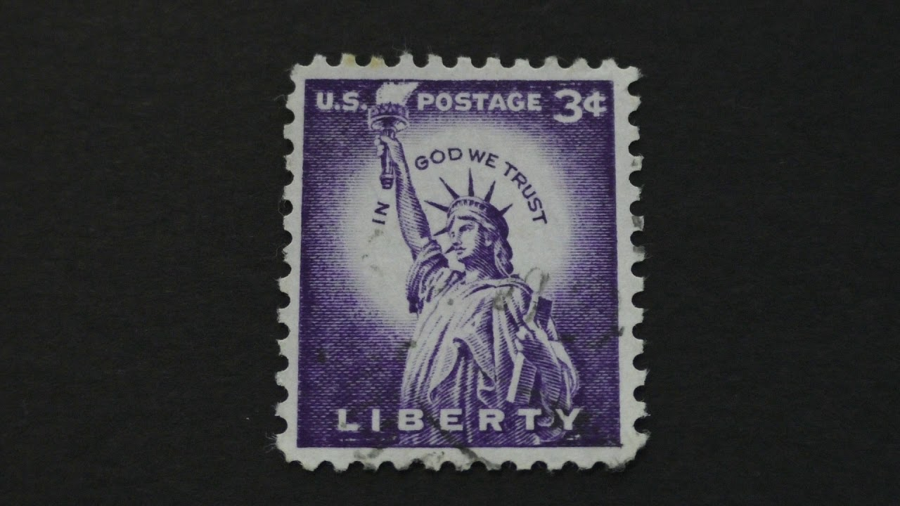 Postage Stamp Usa Statue Of Liberty Price 3 Cents Youtube