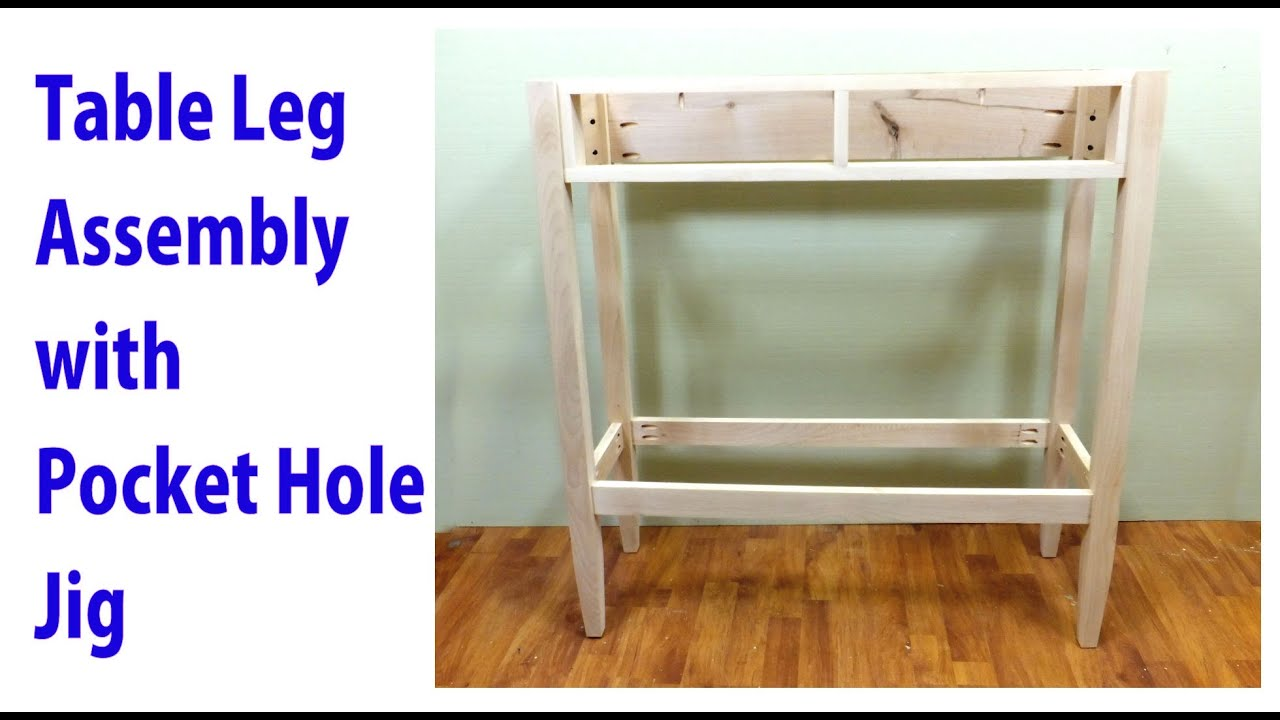 Table Leg Embly With Only Pocket Hole Joinery Woodworkweb