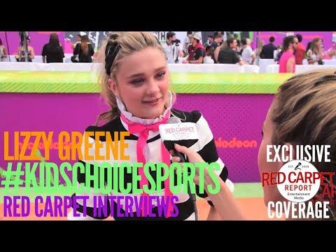 Lizzy Greene #NRDD interviewed at 2017 Nickelodeon's Kids' Choice Sports Orange Carpet