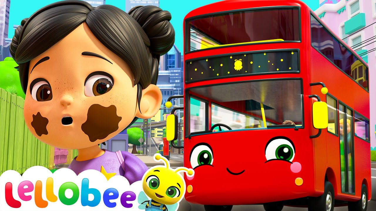 Wheels On The Bus | Lellobee City Farm! - Cartoons and Songs for Kids