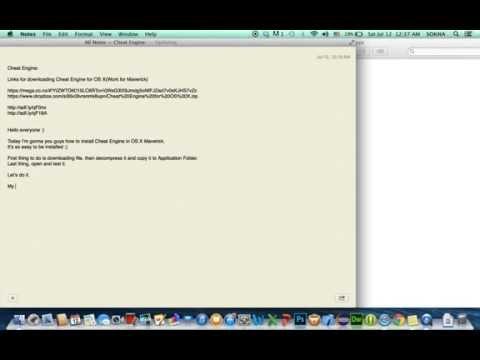 Cheat Engine for OS X Maverick