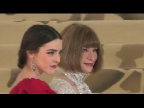 Anna Wintour and Bee Shaffer at Met Gala 2018