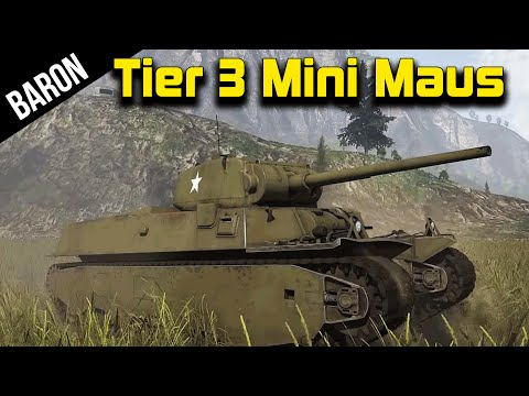 War Thunder Tanks - Mini Maus?  The Tier 3 American Maus, M6A1