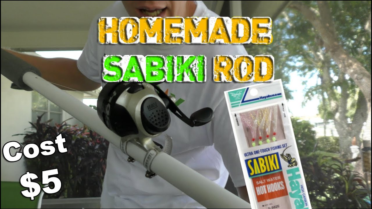 Homemade Sabiki Rod For Kayak Fishing W Live Bait Fish Youtube