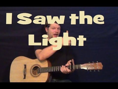 I Saw The Light (Hank Williams) Easy Guitar Lesson How to Play Tutorial