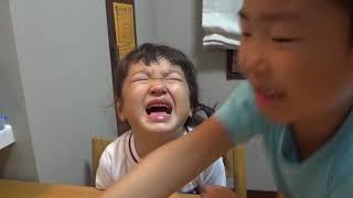 もも泣く、せんのすけ涙を拭く Sen wipe Momo's tears thumbnail