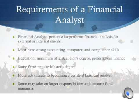 financial analyst requirements