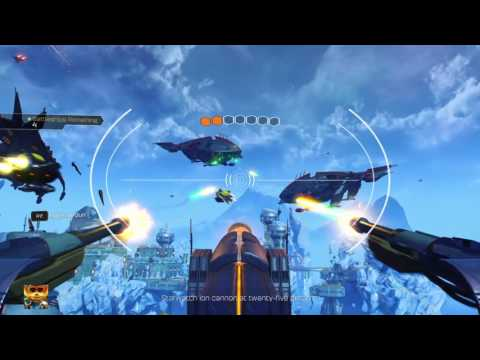 Ratchet & Clank Destroy the battleship - Batalia Fork Krontos