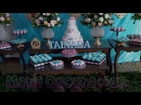 Decoração Azul tiffany// Aniversário 15 anos  // Marli decorações