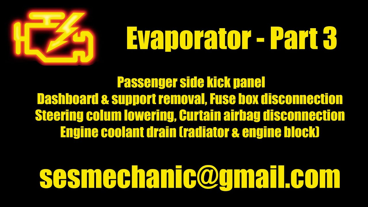 BMW E46 330i 325i Evaporator DIY Replacement and AC Charge - Part 3 ...