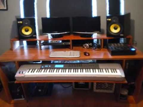 How to build a music production desk  YouTube