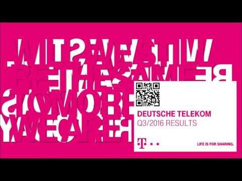 Deutsche Telekom's Q3-2016 investor conference call