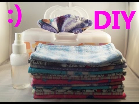 DIY Cloth Wipes & Spray Solution