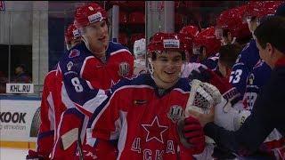 Первый гол Никиты Макеева в КХЛ
