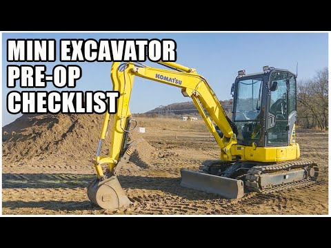 How To Do A Mini Excavator Pre-Operation Inspection | Heavy Equipment Operator