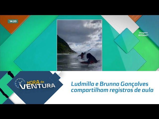 Ludmilla e Brunna Gonçalves compartilham registros de aula de surf em Noronha