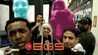Brasil Game Show!!! Encontrando e Jogando com a Galera, Experimentei a Redagron!  BGS 2018 Parte 1