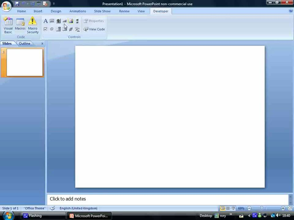 How to: Get activeX controls on Microsoft PowerPoint 2007