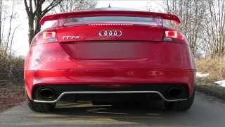2013 audi tt rs plus 360 hp launch control engine rev exhaust sound pull away