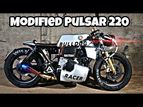 Meet BULLDOG - Modified Bajaj Pulsar 220 Into CafeRacer By WildCraft Custom Motorcycles
