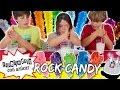 ROCK CANDY o piruletas de AZÚCAR CRISTALIZADO * EXPERIMENTOS CASEROS para niños