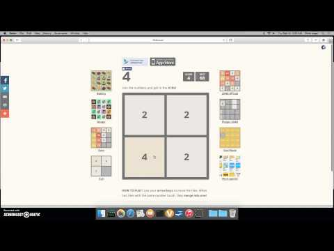 2048 2x2 - highest tile and score - YouTube