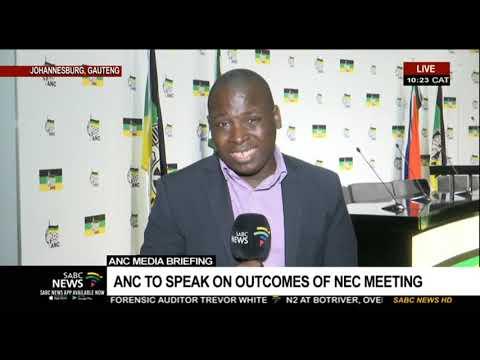 ANC media briefing