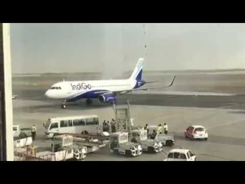 Sharjah International Airport (SHJ) Welcomed Indigo 🛬 first flight to arrive from the South Indian
