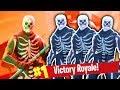 THE LEGENDARY SKELETON SQUAD! (BATTLE ROYALE WINS LIVE)