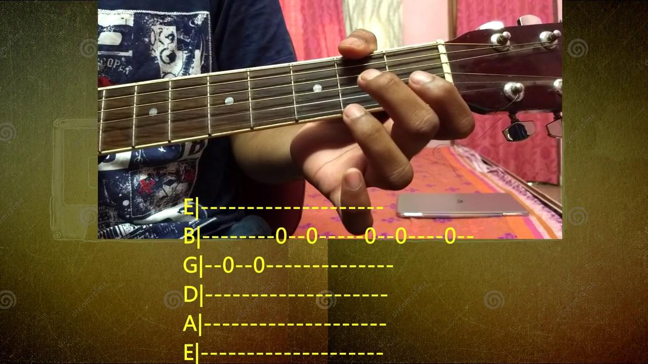 Easy Guitar Tabs O O Jaane Jana Screen Tabs Youtube