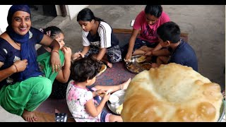 Chole Bhature Eating Challenge - Kaun Rha Vijeta - Village Cooking