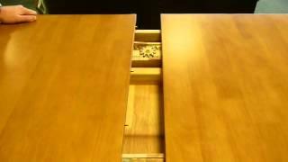 Julian Bowen Newbury Dining Set Maple Finish Ratchet Close Up