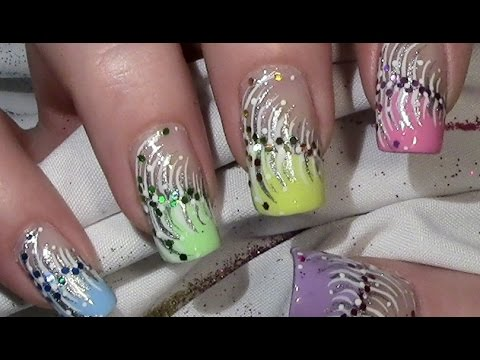 bunte silvestern gel silvester nageldesign mit nagellack new year 39 s eve nail art youtube. Black Bedroom Furniture Sets. Home Design Ideas